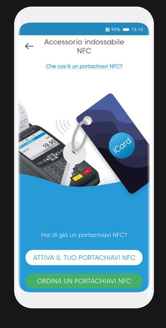 Come posso ordinare un portachiavi NFC?